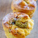 Muffin carciofi e speck